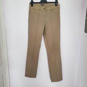 5/$30 Haggar mid waist casual beige pants sz 8